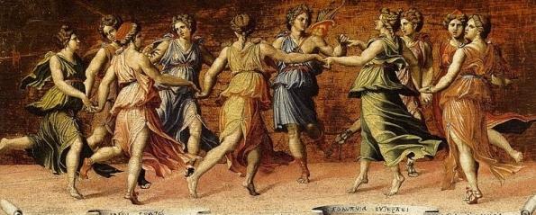 Apollo and the Muses ( Peruzzi, 1481-1537) (US public domain)