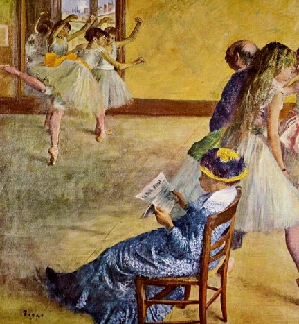 Ballet lessons. Degas.1878 (Public domain. Yorck Project:commons.wikimedia.org)