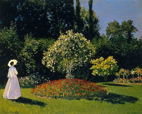 Frau in garten by Monet (1867. Expired copyright.US public domain/ commons.wikimedia.org)