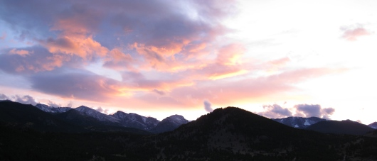 Estes Park / Rocky Mountain view