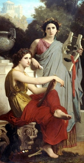 L'Art et la Litterature by Bouguereau, 1867. (US Public domain. commons.wkikmedia.org))