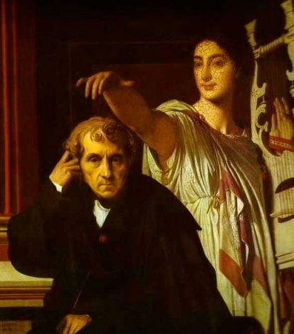 Luigi Cherubini and the Muse of Lyric Poetry, 1842, by Ingres ( public domain:copyright expired. commons.wikimedia.org)