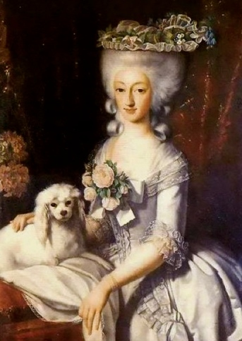 Princess with dog. (1777 Image: US public domain/commons.wikimedia.org)