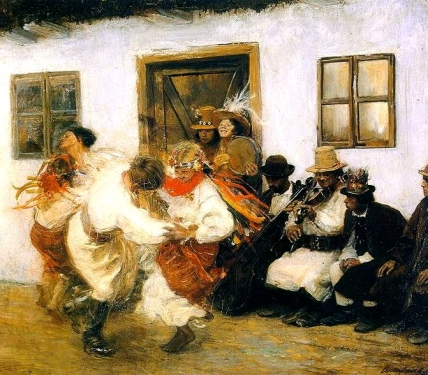 Ukrainian dance. 1895 (US public domain:commons.wikimedia.org)