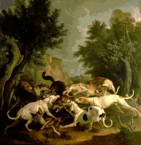 Wolf Hunt by Desportes (1661-1743) (Public domain. Expired copyright. commons.wikimedia.org)
