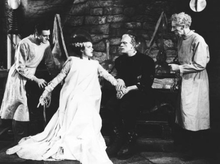 Horrors! (1935 Bride of Frankenstein. Universal Studio. US public domain: no copyright notice and date published /commons.wikimedia.org)