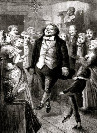 Engraving by Eytinge, 1843. Christmas Carol (Public domain. life of author +100 yrs:commons.wikimedia.org)
