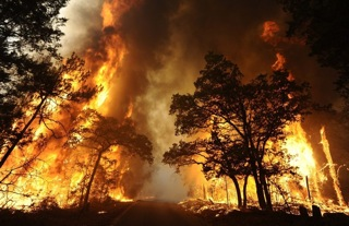 Texas wildfire, 2011. Taken by local resident.