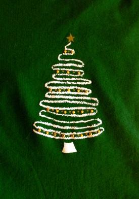 Glittery Christmas tree
