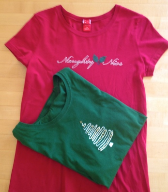 Naughty or Nice? Holiday t shirts