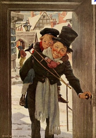 "Jesse Willcox Smith (1863-1935) illustration of ""Christmas Carol"" (www.Gutenberg,org)"