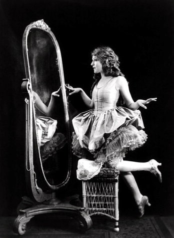 Time to look back and reflect. (Mary Pickford, 1920. US public domain. expired copyright. From Cheney Collection at Library of Congress/commons.wikimedia.org)
