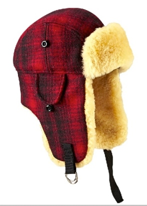 Children! Cover your ears. Maybe your eyes, too. (Plaid hunting hat from www.woolrigh.com)