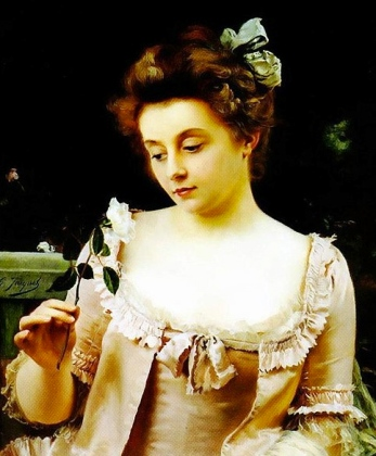A rare beauty. Painting by gustave Jacquet, 1846-1909. (US public domain: expired copyright. artist's life+100yrs.Commons.wikimedia.org)