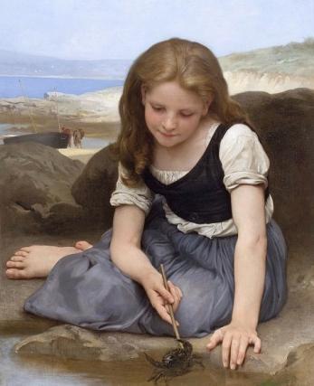 Le Crabe, 1869. (Bourguereau 1825-1905/ US public domain.artist life+100/ Commons.wikimedia.org)