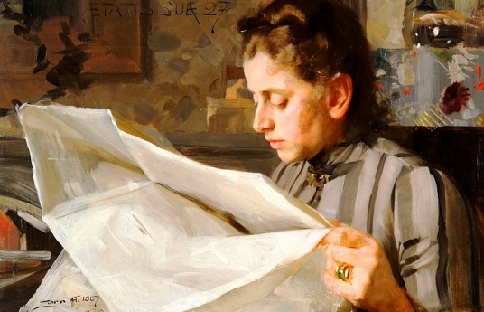 (Portrait of Emma, 1887. Anders Zorn,1860-1920, Mora, Sweden/ US public domain. published before 1923/ artist's life/ Commons/ wikimedia.org)
