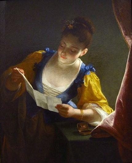 Que magnifique! A letter. (Jean Raoux. Louvre Museum.US public domain. reprod of PD art:artist life+100/ Commons.Wikimedia.org)