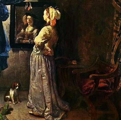 Woman. 1670. (Frans van Mieris,1635-1681.US public domain: reprod of PD art/  artist life+100/Commons.wikimedia.org)