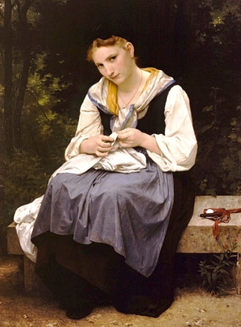 Young worker.(Bouguereau 1825-1905. US public domain: reprod PD art/ Commons.wikimedia.org)