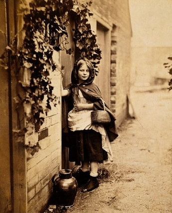 Did you hear that? (1858 At Grandmother's door.Henry P. Robinson 1830-1901/US public domain: photo reprod of PD work/expired copyright/artist life+70/Commons.wikimedia.org)