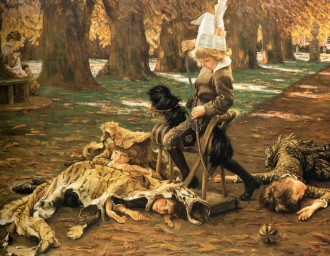 Such animals! (1882  James Tissot 1836-1902.US public domain: photo reprod of PD art/ publication date/ artist life+100/ Commons.wikimedia.org)
