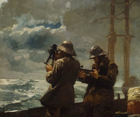 Measuring the storm (1886.Winslow Homer 1836-1910.Addison Gallery of American Art/ US public domain: photo reprod of PD art/ publication date/ artist life +100/ Commons.wikimedia.org)