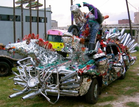 Part of a thundering herd (2005 RIde to Live Art Car. Released to PD by Montrose Patriot/ Commons.wikimedia.org)