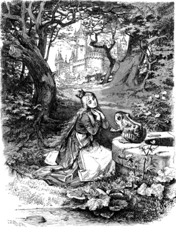 1892 Grimm Fairy Tale (US public domain: expired copyright/ artist life+70/ reprod of PD art/ Commons.wikimedia.org)