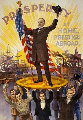 Those were optimistic days  (Campaign poster for McKinley.Library of Congress.cph.3b52834:Commons.wikimedia.org)