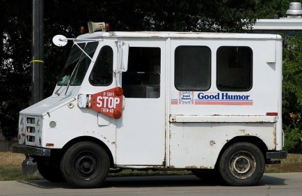 Popsicles on a hot day make for good humor? (Good Humor ice cream truck/ DangApricot:Commons.wikimedia.org)