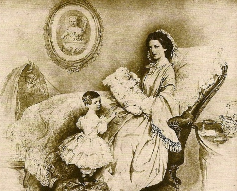 (Mother and children 1858.J Kriehuber 1800-1876/ US public domain.photo reprod of PD art/ publication date/artist life+100/ Commons.wikimedia.org)