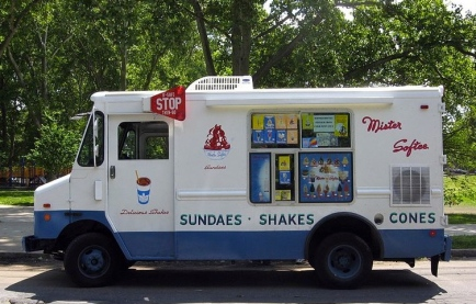 Soft touch for a sad child? Here's the Mr Softee Ice Cream Truck.  (SchuminWeb/Ezra Wolfe/ Commons.wikimedia.org)