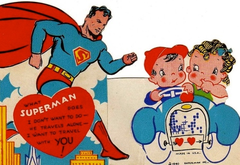 Super love.   (1940. US public domain: publication date/copyright not renewed/artist's life/Commons.wikimedia.org)