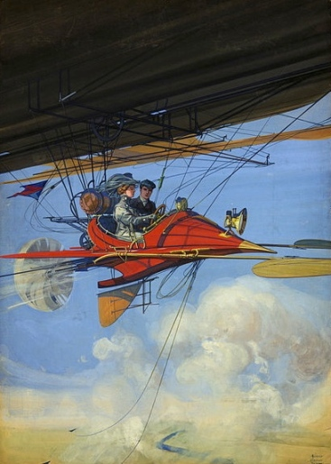 Flying high. It was an exciting adventure.(The All-Story 1908 cover.Harry G. Dart.Library of Congress.ppmsca.13554/ Commons.wikimedia.org)