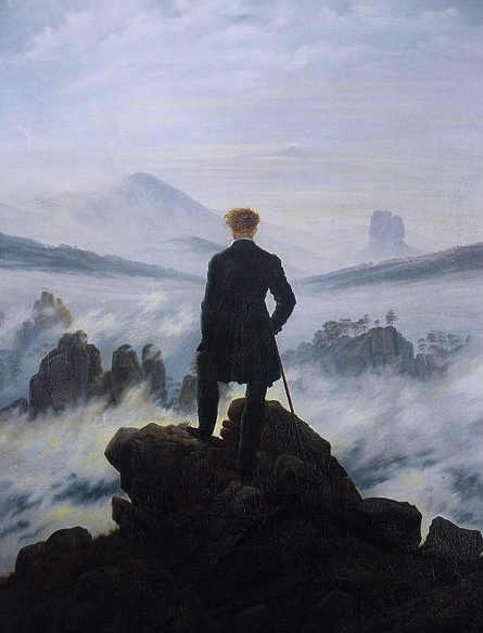 (The Wanderer, 1818. Friedrich 1774-1840/Photo reprod of PD art/ Artist life+100/ Commons.wikimedia.org)