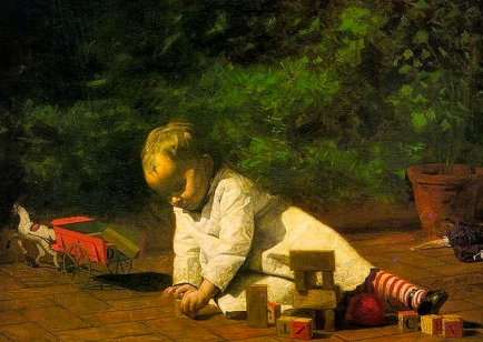 Mine! All mine! Easy to play nice alone. (Thomas Eakins 1844-1916/ US public domain: photo reprod of PD art/ artist life+90. Commons.wikimedia.org)