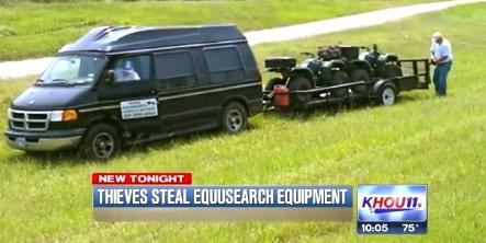 EquuSearch van. (KHOU.com news screenshot)