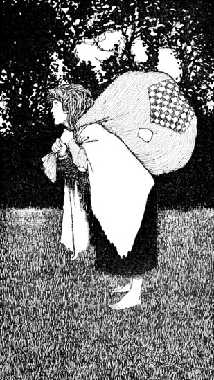poor child. (1913 Andersen's fairy tale/London-Constable/William Heath ill.1872-1944:US public domain/expired copyright/publication date:commons.wikimedia.org)