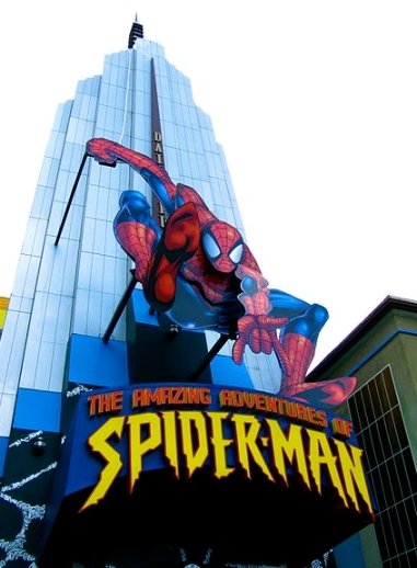 Spiderman.Universal's Island of Adventure.Entrance 3:J.Thompson/Commons.wikimedia.org)