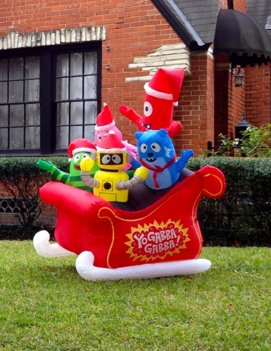 Inflatable Christmas sleigh yard decoration