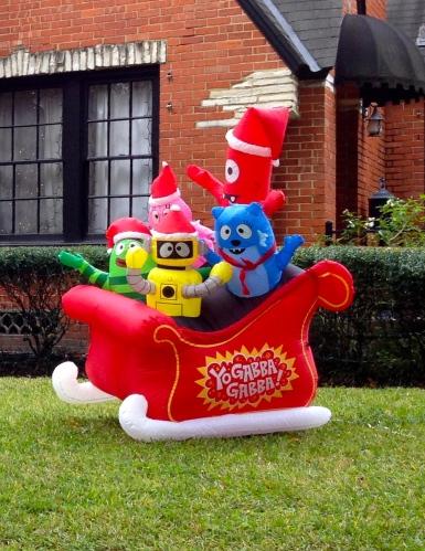 Inflatable Christmas sleigh yard decoration