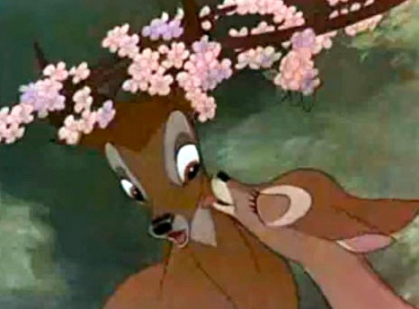 Hey, don't dump your problems on us. We've our own to raise - and we don't need any bad influences. (1942 trailer screenshot Bambi. Disney published without copyright notice/artist life/Commons.wikimedia.org)