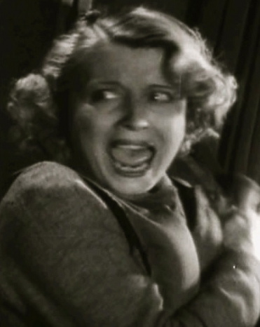 "Screaming woman. 1940 ""Foreign Correspondent"" film trailer. Alfred Hitchock/USPD:pub.date/Commons.wikimedia.org)"