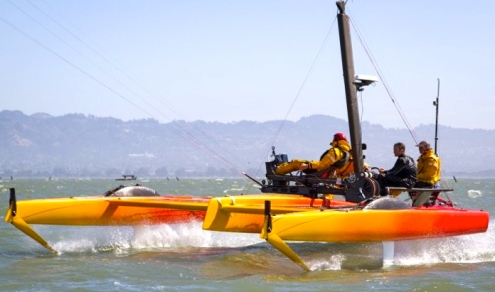 Stepping it up. Speed is an illness. Not curable - and why would you want to? (project kiteboat.com)
