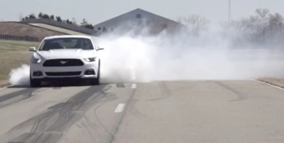 2015 Ford Mustang. Line Lock burnout. Ford/wot.motortrend.com