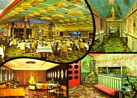 Postcard of the Balinese Room (Rosenberg Library, Galveston, TX)