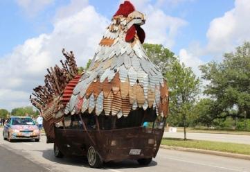 Hen Art Car (Christine DiStadio/khou.com