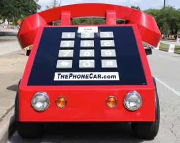 Red phone art car (Christine DiStadio/khou.com)