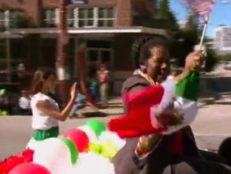 Congress woman Sheila Jackson Lee (18th Congressional District) loves a parade or camera...any parade or camera.