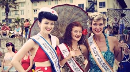 Vintage bathing beauties - winners! galvestonbeachrevue.com